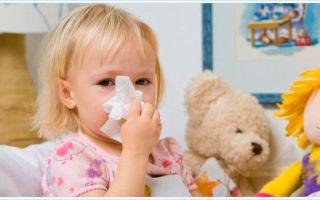 Выбор капель от насморка для детей до года и после